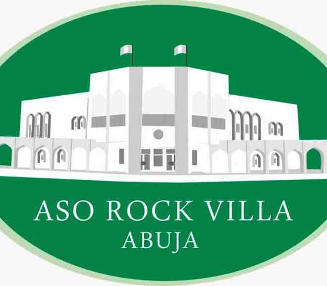 the official logo of the aso rock villa