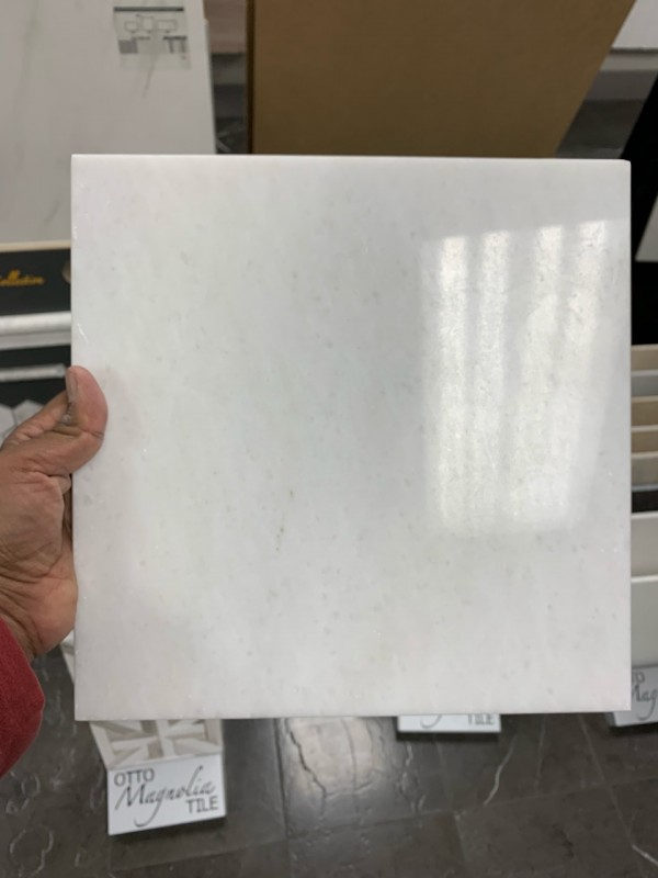 6x6 pasha white marble floor and wall tile