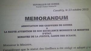Memo greffiers