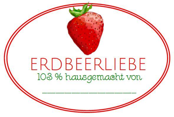 2x Free Printable: Erdbeer Etiketten