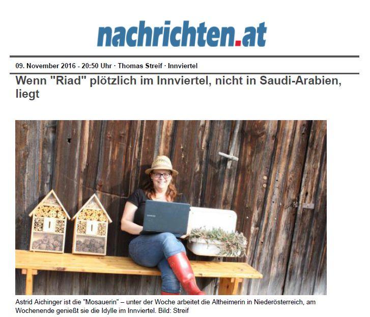09.11.2016 Oberösterreichische Nachrichten