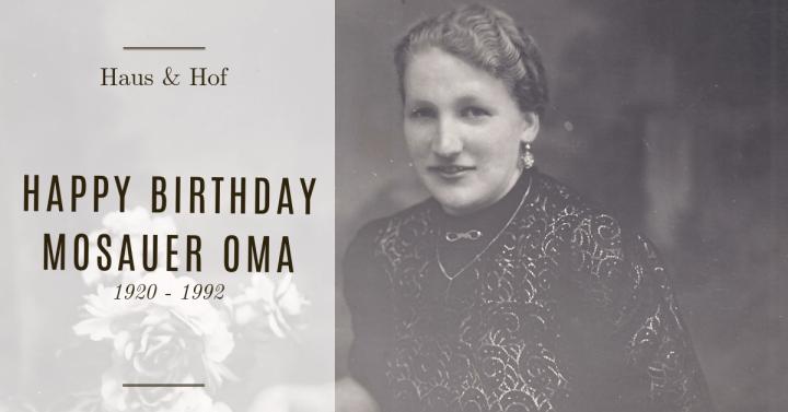 Happy Birthday Mosauer Oma