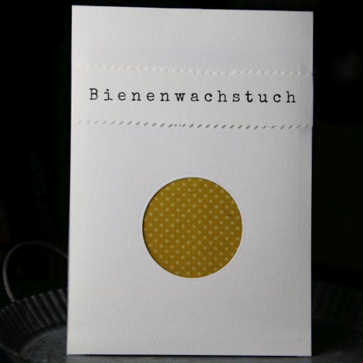 Bienenwachstuch Yellow Dots (M)