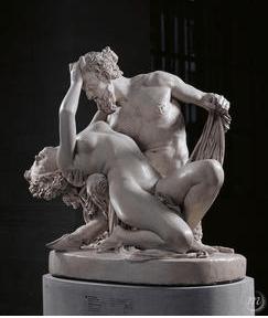 Bacchante et satyre de James Pradier Louvre rose coquin