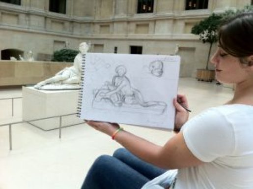 une élève de passage à Paris