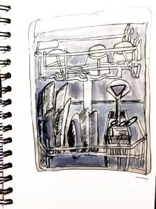 lave vaisselle, être créatif dans son aquarelle et dessin
