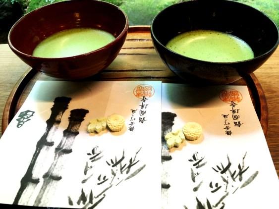 Thé mâcha japonais apaisant qui calme le stress comme le dessin