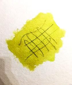 Crayon emprisonné dans l'aquarelle qui est une technique de peinture incontournable ne va plus s'effacer