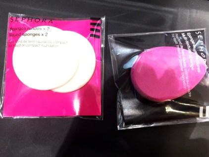 Eponges de maquillage qui permettent d'enlever ou d'apporter de la matière dans un dessin ou aquarelle