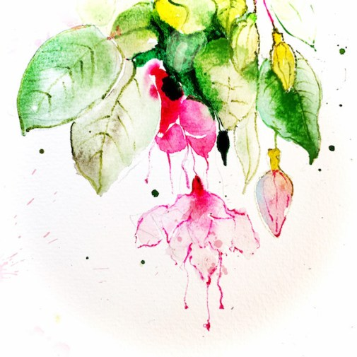 Fleur qui pend d'un arbre au printemps