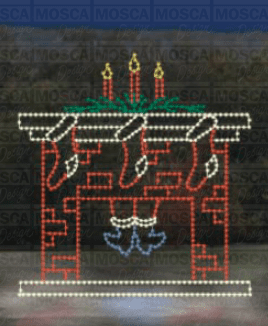 SSTL-138 Fireplace With Santa Main
