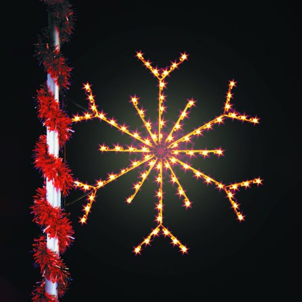 Silhouette Snowflake Commercial Holiday Decoration