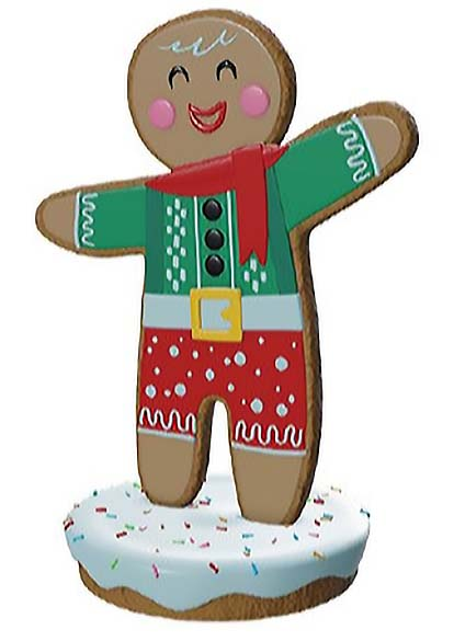 5.4ft. Gingerbread Man Archie