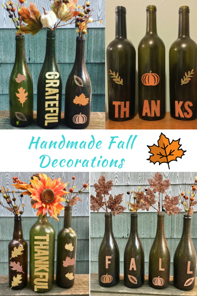 fall wine bottle crafts