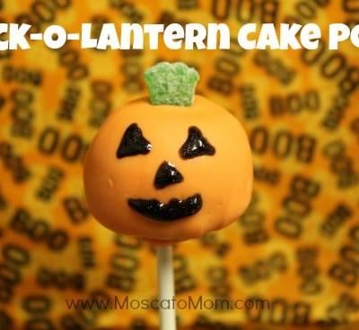 Jack-o-Lantern Cake Pops