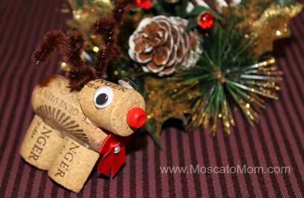 wine cork reindeer rudolph