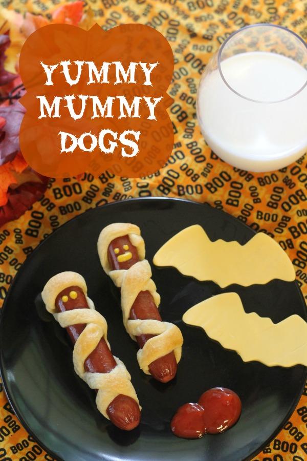 halloween snacks mummy hotdogs