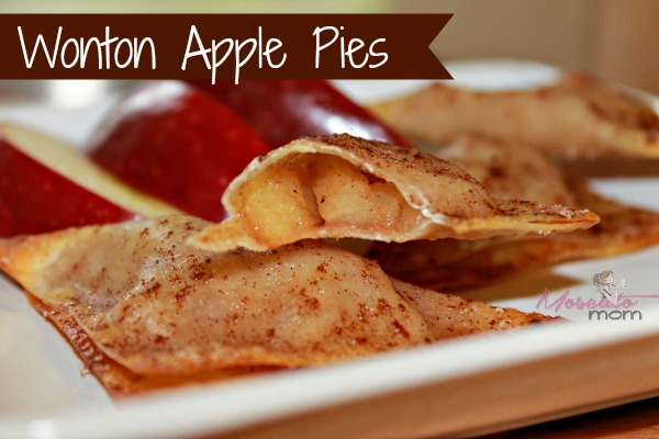 Guilt Free Wonton Apple Pies