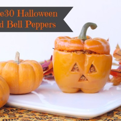 Whole30 Halloween Stuffed Bell Peppers