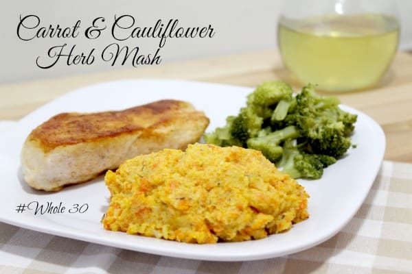 Carrot and Cauliflower Herb Mash