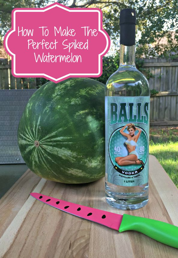how to put vodka in a watermelon