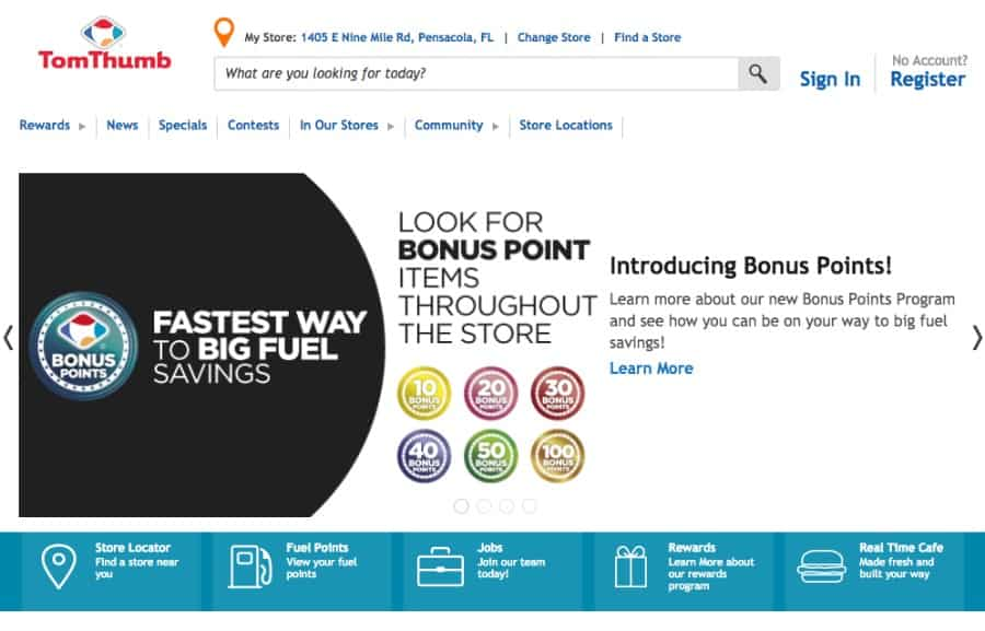Tom Thumbs new Bonus Points Program