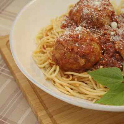 Pressure Cooker Mozzarella Stuffed Meatballs Recipe
