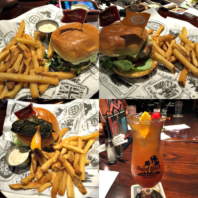 hard rock world burger tour orlando