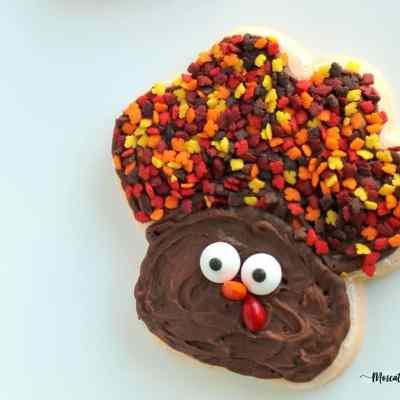 Thanksgiving Sugar Cookie Turkeys