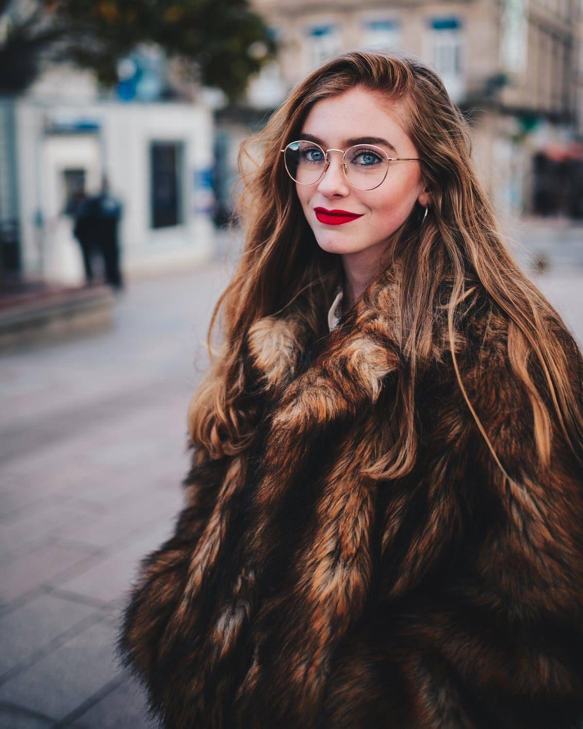 russian woman fur coat