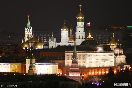 Москва   Фотографии   №824 (Кремль ночью)