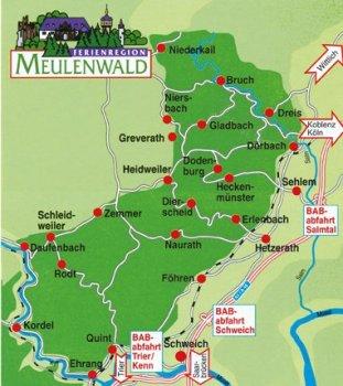 Karte Meulenwald