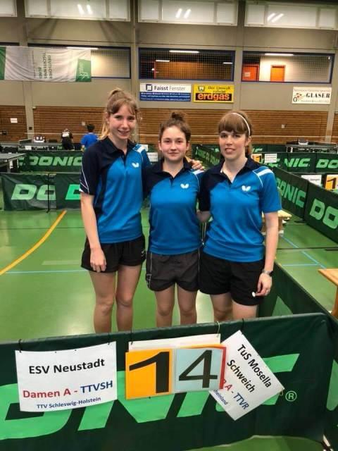 Schweicher Damentrio bei den Deutsche Pokalmeisterschaften