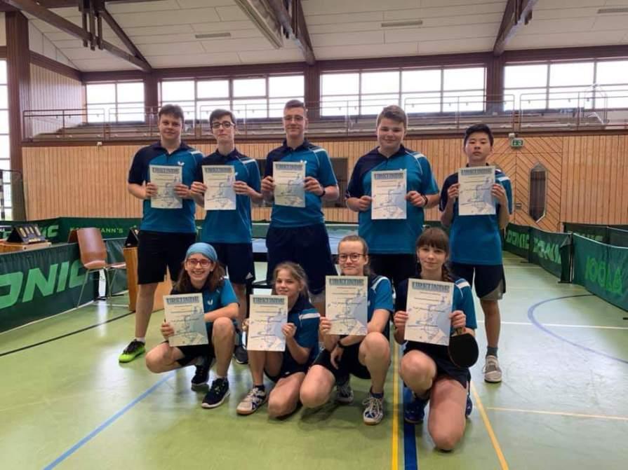 Tischtennis gewinnt drei Endspiele auf Regionsebene