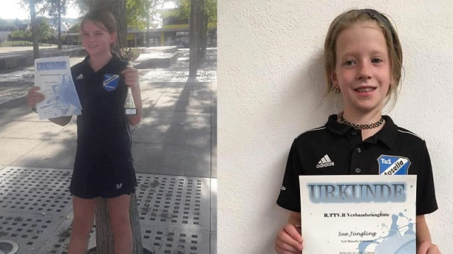 Emily Strüber und Sue Jüngling mit tollen Leistungen bei Tischtennis-Verbandsendrangliste