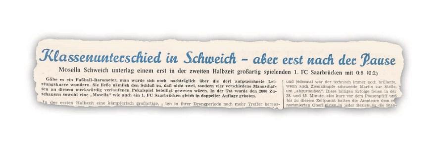 Welche ein Spiel - Mosella - Saarbrücken im DFB Pokal