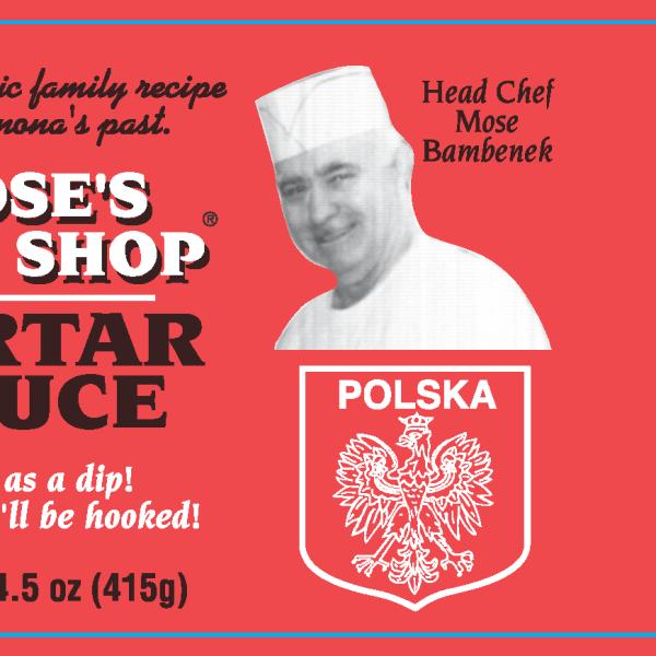 Mose's Fish Shop Tartar Sauce product label