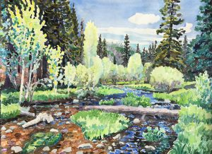 Watercolor of Little Colorado River by artist Rick DeMont