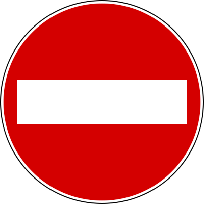 no entry banned driving schools