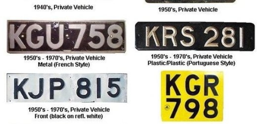 How the Kenya car number plate system works