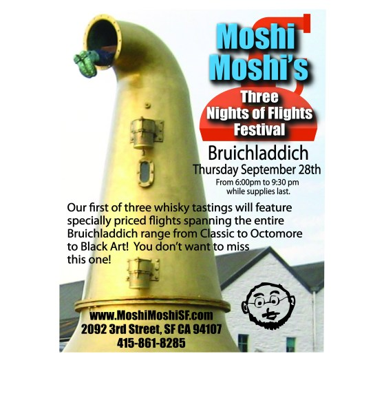 Working Moshi's Three Nights of Flights Bruichladdich