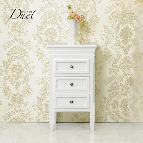 『デュエット』シリーズ アンティーク調 3Dチェスト 引き出し3段 幅43cm 花瓶や小物の飾り付けに!
