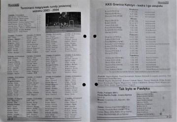 2003. Kadra zespołu na sezon 2003-2004