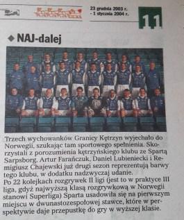 2003. Nasi w Norwegii.