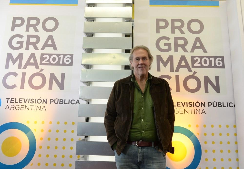 Gonzalo Bonadeo en el lanzamiento de los estrenos de mayo de Televisión Pública Argentina