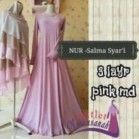 Gamis Pesta Muslimah dan Baju Lebaran Syar'i Salma 3 Layer Syar'i (ready stock dan made by order)