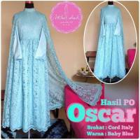 Baju Pesta Seragam Keluarga Full Brokat Oscar Dress (made by order)