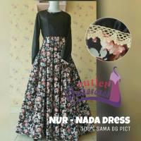 Baju Pesta Muslimah Gamis Katun Jepang Nada Dress (Ready Stock dan Made by Order)