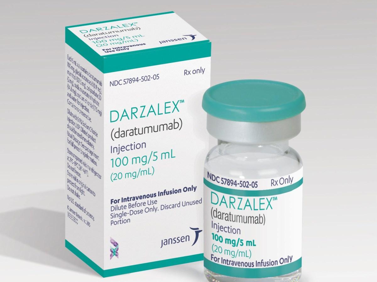 Упаковка препарата «Дарзалекс» (Darzalex, даратумумаб).