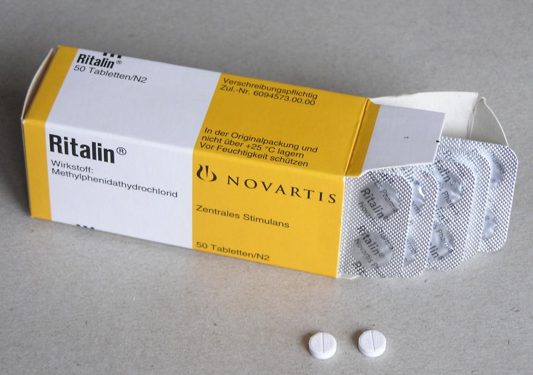 Упаковка препарата «Риталин» (Ritalin, метилфенидат).